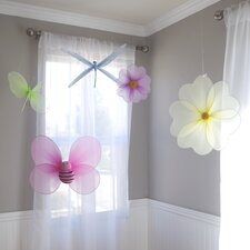 5 Piece Girls Nursery Butterfly Decoration Set