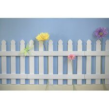 Wooden Picket Fence Wall Border