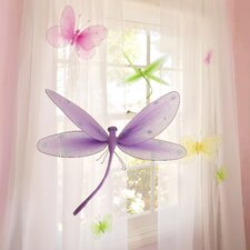 Sequined Hanging Dragonfly 3D Wall Décor