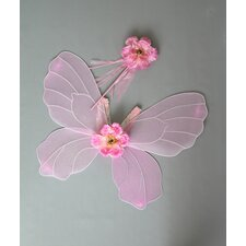 <strong>Heart to Heart</strong> Flower Fairy Wing and Wand Set