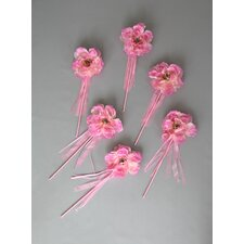Peony Flower Wand (Set of 6)
