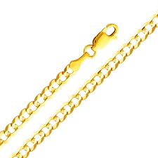 14kt Yellow Gold 3.6mm Cuban Bracelet (7.5in)