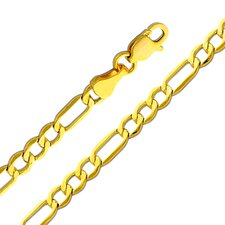 14kt Yellow Gold 3.5mm Figaro Bracelet (7in)