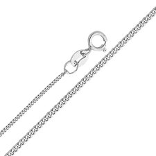 14kt White Gold 1.1mm Curb Chain