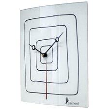 Glass Art Clock
