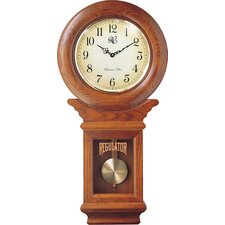 Regulator Wall Clock in Oak