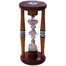 Three Tier 5 Minute Antique Wood Sand Timer Hourglass