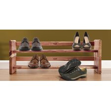 Cedar 2 Tier Shoe Rack