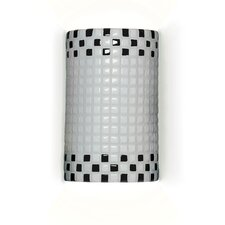 Mosaic Checkers 1 Light Wall Sconce