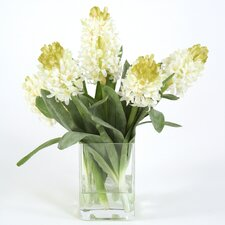 <strong>Distinctive Designs</strong> Silk Hyacinths in Square Vase
