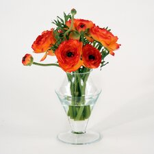 Silk Ranunculus in Ginger Jar (Set of 2)