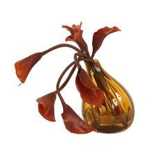 Silk Calla Lilies in Gourd Vase