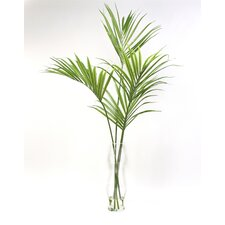 Silk Kentia Palm Floor Plant in Decorative Vase