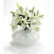 <strong>Distinctive Designs</strong> Silk Bouquet in Spotted Vase