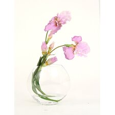 <strong>Distinctive Designs</strong> Silk Iris in Disc Vase