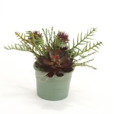 Faux Arrangement Floor Plant in Pot (Set of 3)