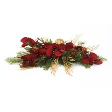 Silk Berry Velvet Orchid Accent Topper (Set of 2)