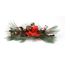 Silk Snow Pine Accent Topper (Set of 2)