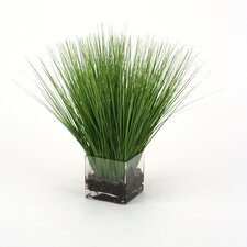 Waterlook Faux Grass in Rectangular Artificial Decorative Vase