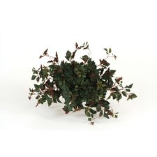 <strong>Distinctive Designs</strong> Topper with Silk Kangaroo Ivy on Ceramic Tile Floor Plant in Planter