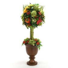 <strong>Distinctive Designs</strong> Harvest Topiary with Faux Vegetables and Hydrangeas in Classic Urn