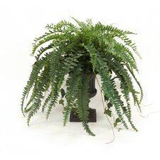 <strong>Distinctive Designs</strong> Silk Boston Fern, Ivy, Grass and Twig Branches Floor Plant in Urn