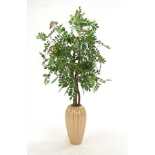 <strong>Distinctive Designs</strong> Silk Mountain Ash Floor Tree in Vase