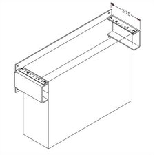 Flush Mounted Wall Bracket