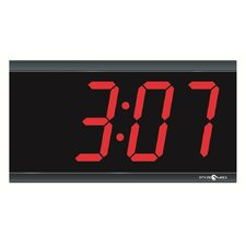 4-Inch 4 Digit Red LED Hard Wired Digital Clocks