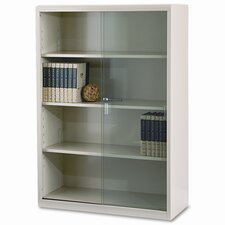 "Tennsco Executive 53"" Bookcase with Glass Doors"