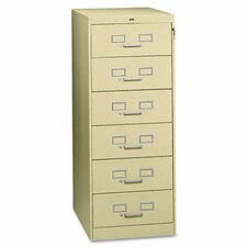 Tennsco Six-Drawer Multimedia Filling Cabinet