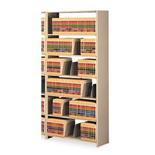 Tennsco Snap-Together 7-Shelf Closed Add-On Open Filing Unit
