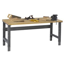 Adjustable Leg Hardwood Top Workbench