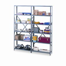 "Industrial Post 88"" H 6 Shelf Shelving Unit Starter"