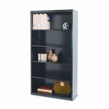 Metal Bookcase, 5 Shelves, 34-1/2W X 13-1/2D X 66H
