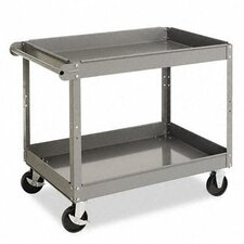 <strong>Tennsco Corp.</strong> Two-Shelf Metal Cart