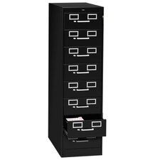 <strong>Tennsco Corp.</strong> 8-Drawer Card Cabinet, w/Lock, Black/Sand