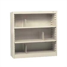"KD 42"" H Three Deep Shelf Bookcase"