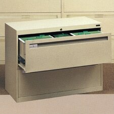 Lateral File With 2 Drawers and Fixed Drawer Fronts