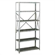 Q Line Box-Formed 6 Shelf Shelving Unit Starter