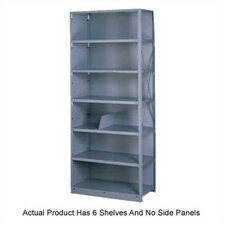 "Q Line Open 87"" H 6 Shelf Shelving Unit Add-on"
