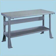 Steel Top Workbench with Shelf