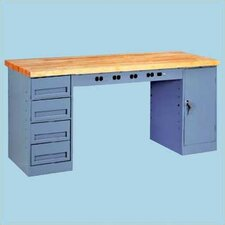 <strong>Tennsco Corp.</strong> Electronic Workbench with 1 Drawer & 1 Cabinet
