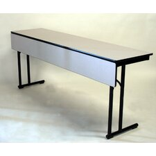 C-Leg Series Laminate Rectangle Training Table with Modesty Panel