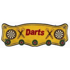 Darts Coat Rack Pub Sign