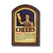 Hand-Carved Cheers Sign