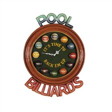 Game Room It's Time Wall Clock