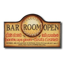 Hand-Carved Bar Room Open Sign