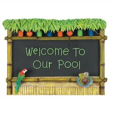 """Welcome To Our Pool"" Tiki Bar Sign"