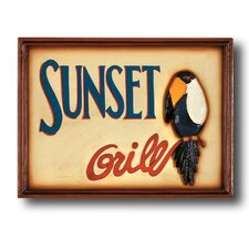 """Sunset Grill"" Outdoor Sign"